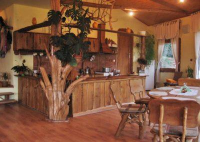 amenajare-living-bucatarie-open-space-cu-trunchi-de-carpen-si-lemn-masiv-in-stil-rustic